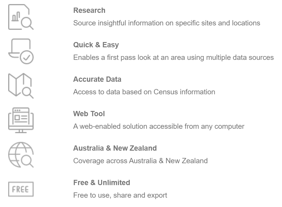 Research Quick & Easy Accurate Data Web Tool Australia & New Zealand Free & Unlimited